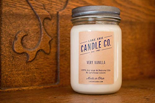 Very Vanilla - 12oz Soy wax candle - by Lake Erie Candle - Vanilla Port