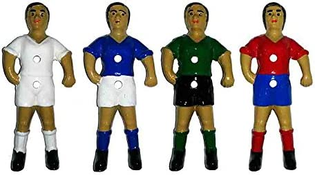 Duguespi Jugador muñeco futbolin Barra 13mm Portero Color Azul 1 unid