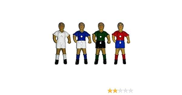 Duguespi Jugador muñeco futbolin Barra 13mm Color Rojo 1 unid: Amazon.es: Deportes y aire libre