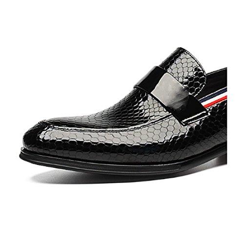 Sneakers NTUMT Uomo Comode Tonda da Pelle Casual Testa Indossabili in Moda Fondo Black Piatto Scarpe zTHwRqzS