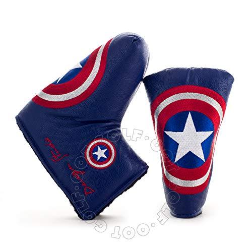 Lion Custom Shop Captain America Golf Headcover for Midsize Mallet