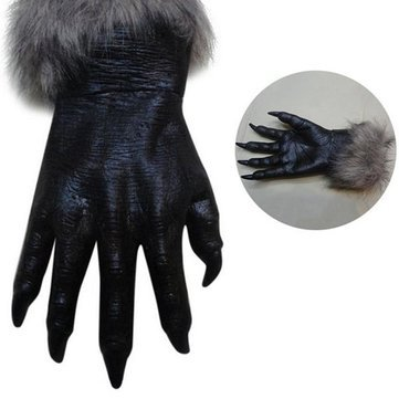 Classic Halloween Werewolf Wolf Paws Claws Cosplay Gloves Creepy Horror Devil Costume Party - Festival Gifts & Party Supplies Halloween Supplies - 1 x Wolf Paws Gloves -