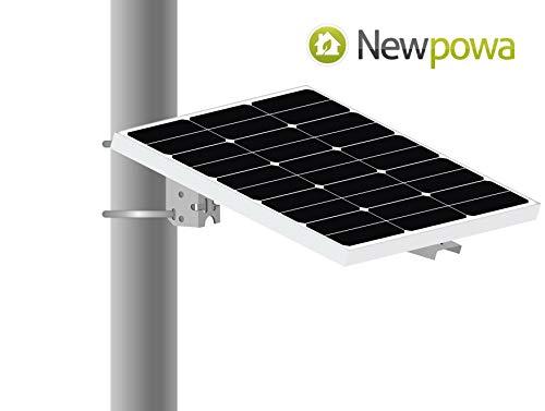 Newpowa Universal Solar Panel Mounting Bracket Single Arm Pole, Wall and Ground Mounts Up to 60W