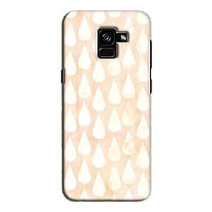 Cover It Up - Raindrops Print Orange Galaxy A5 2018 Hard Case