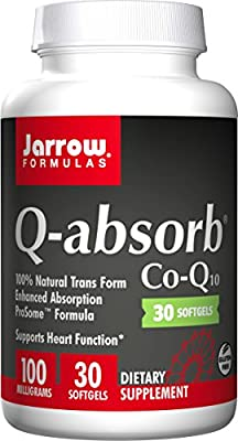 Jarrow Formulas Q-Absorb Co-Q10, Supports Heart Function, 100 mg, 30 Count