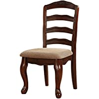 247SHOPATHOME Idf-3109SC-DK Dining-Chairs, Brown