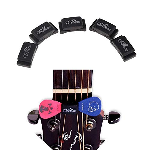 Imelod Pick Holder for Guitar Bass Ukulele, Multi Packaged, 5pcs per Package, Rubber Pick Holder Fix on Headstock Between String 3 & 4, D & G ...