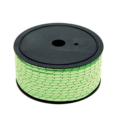 Price comparison product image MUZI New Outdoor Super Long 50 Meters Full Luminous + Reflective Rope Camping Wind Rope Bold Canopy Fixed Windproof Tent Rope, Green