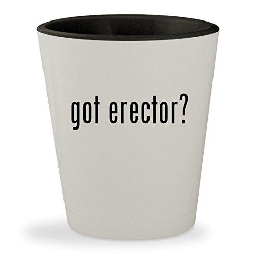 got erector? - White Outer & Black Inner Ceramic 1.5oz Shot Glass (Erector Special Edition 25 Model)