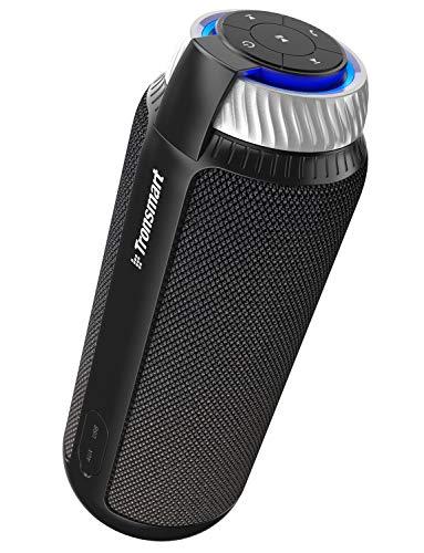 Tronsmart T6 Altavoz Bluetooth Portátil, 25W Sonido Estéreo 360° Altavoz Inalámbrico con Bajos Potentes, Micrófono…