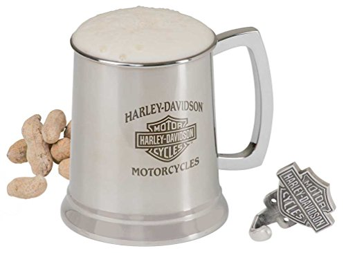 - Harley-Davidson Bar & Shield Motorcycle Stainless Steel Mug and Hook Set, 18 oz. HDL-18607