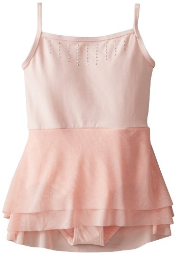 Danskin Big Girls' Mesh Skirt Leotard, Petal Pink, (Danskin Pink Skirt)