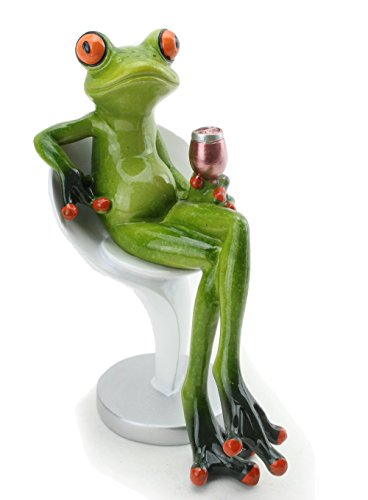 - We pay your sales tax Novelty Funny Frog Figurine Relaxing Statue For Home Decor (Drinking)