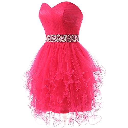 Homecoming Tulle Prom Women's Short Dresses CuteShe Orange Strapless wqZ68yH