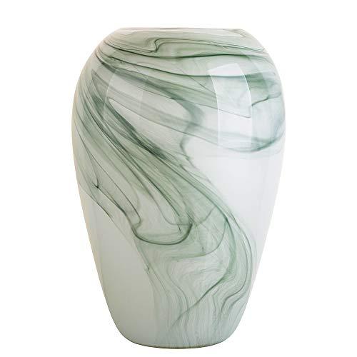 Ballerina Milky Flower Vases Hand Blown Art Glass Vases for Home Decorative 13.38