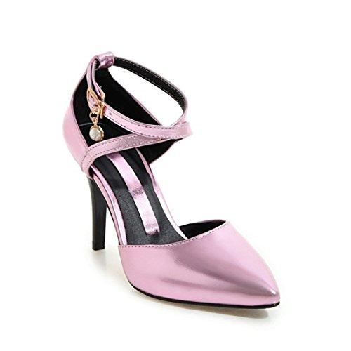 Femenino Sandalette Zapatos Zapato Ahuecado Tacon Afilados Pink DEDE Individual RSwqwEZ