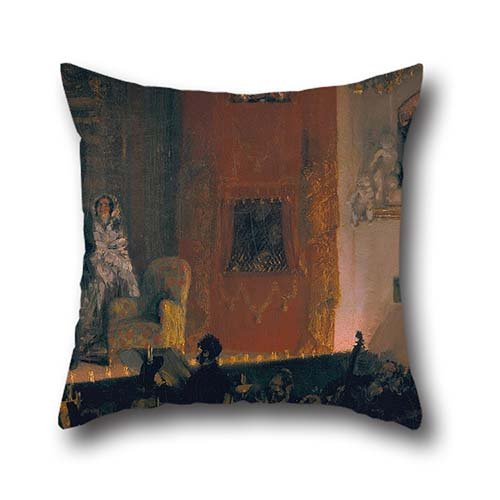 The Oil Painting Adolph Menzel - Thé?tre Du Gymnase In Paris Pillow Shams Of ,18 X 18 Inch / 45 By 45 Cm Decoration,gift For Dance Room,girls,home Theater,lover,deck Chair (2 Sides)