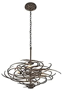 Troy Lighting Revolution 5-Light Pendant - Revolution Bronze Finish