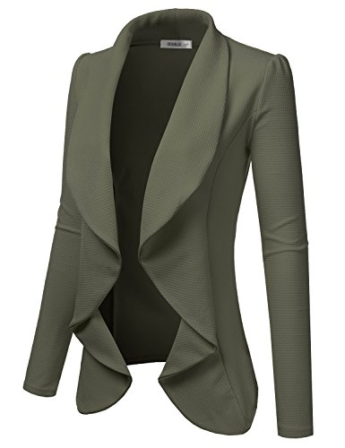 NINEXIS Womens Classic Draped Open Front Blazer Olive XL by NINEXIS (Image #1)