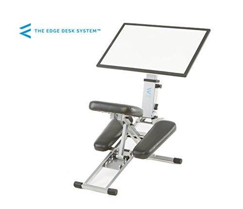 The Edge Desk System Ergonomic Adjustable Kneeling Desk Combination Chair Mobile Work Surface