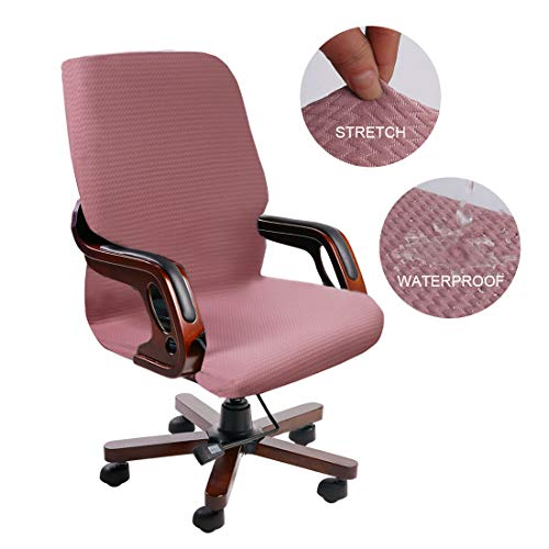 PiccoCasa Durable Stretch Waterproof Office Chair Cover, Wave Jacquard Pattern High Back Computer Chair Slipcovers for…