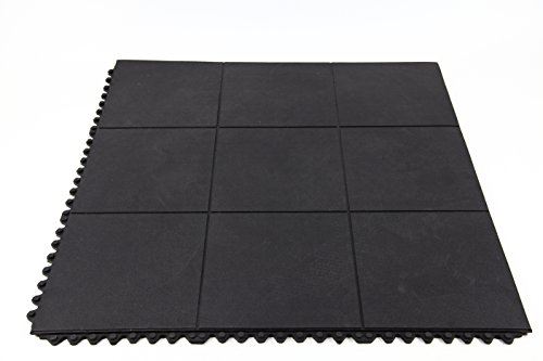 IncStores Evolution Rubber Floor Tiles - Equipment Mats, Gym Flooring and Utility Floors (Center Tiles, Sold Individually) (Incstores Gym Tiles)