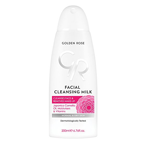 Golden Rose Facial Cleansing Milk for All Skin Types, 6.76 F