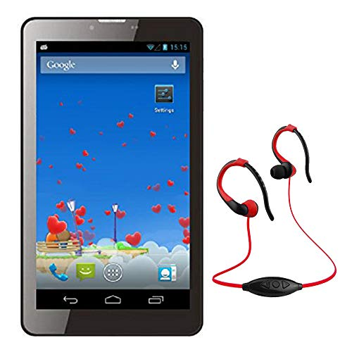 IKALL IK1 3G Calling Tablet  Dual SIM, 7 inches  with MP3/FM Player Neckband, Black