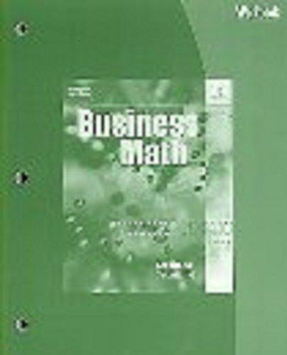Workbook for Schultheis/Kaczmarski's Business Math, 16th