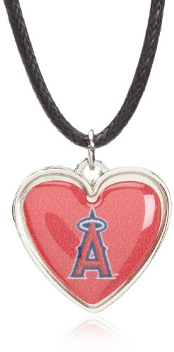 MLB Los Angeles Angels Crystal Heart Reversible Necklace