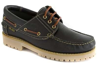 db228219e85bb Komo2Flex - Zapatos tipo nauticos de piel hombre suela gruesa