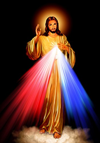 Jesus Christ Religious Art Painting - Divine Mercy Jesus Christ POSTER A2 print Roman Catholic pictures images Sacred heart of Jesus Painting Religious Christian Holy Wall Art Decor for Home