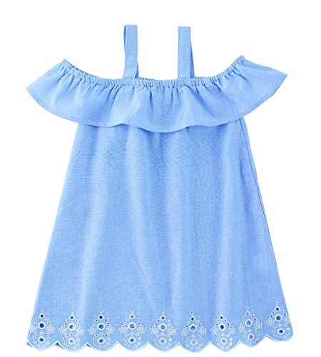 Mud Pie Mini Juniper Dress Cotton Chambray Toddler Kids Wear for $<!--$27.99-->