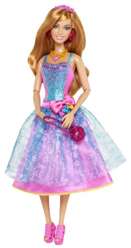 Barbie Fashionistas in The Spotlight Gown Doll, Blue]()