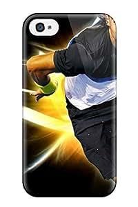 Durable Defender Case For Iphone 4/4s Tpu Cover(rafael Nadal Tennis )