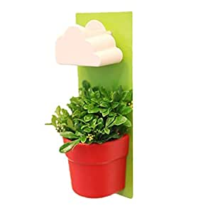 New Style Creative Blue Rain Clouds Pots Rainy Pot Wall-mounted Flower Pot Making Your Space Sweeter and Cuter, Green