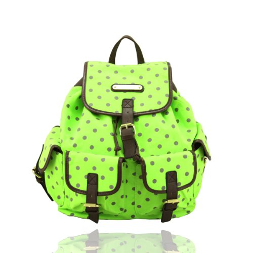Backpack Bag Ladies Handbag Green Polka Smith Rucksack New Dot Anna wxZTXqw6f
