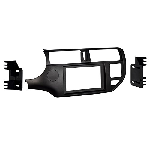 Metra 95-7353CH Double DIN Dash Kit for Select 2012-Up Kia Rio Vehicles (Black) -