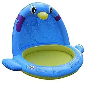Easy-topbuy - Piscina Hinchable con Forma de pingüino, plástico de ...