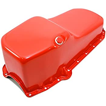 58-79 SBC Chevy Orange Drag Race Style Oil Pan 7qt 283 327 350 400 Small Block