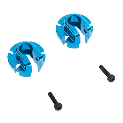 Axial AX31431 Aluminum Shock Spring Retainer, Blue