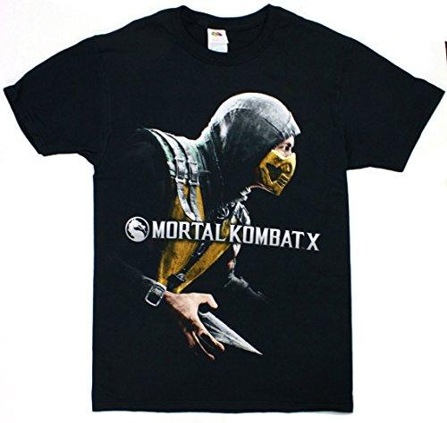 Mortal Kombat X Cover Box Men's Black Shirt