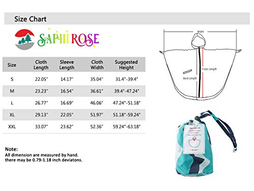 SaphiRose Lightweight Kids Rain Poncho Jacket Waterproof Outwear Rain Coat,Yellow Cloud,L