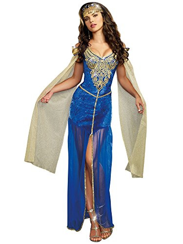 Adult Royal Blue King Costumes (Dreamgirl Women's Medieval Beauty, Blue, X-Large)