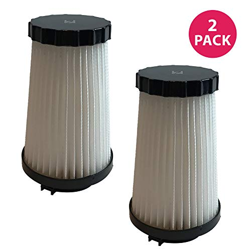 Crucial Vacuum Air Filter Replacement - Compatible with Dirt Devil Part # 3SFA11500X & 3-F5A115-00X, F2 HEPA Style Filter Models, Vacs - Fits Dynamite Quick Vac, Jaguar Power Reach, Vac (2 Pack)