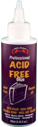 HELMAR Acid Free Glue, 4.23 Fluid Ounce ()