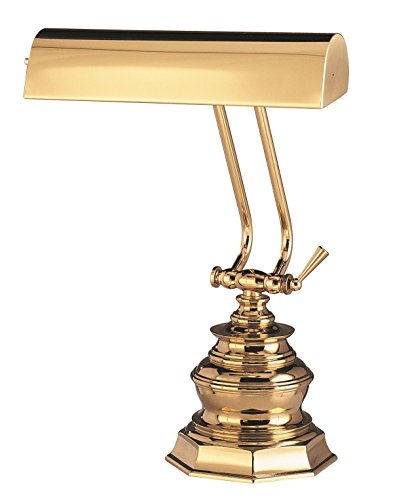 House Of Troy P10-111 14-Inch Portable Desk/Piano Lamp, Polished Brass