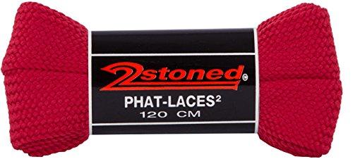 Original 2stoned Phat Laces Schnürsenkel 120cm lang und 3cm breit in 14 Farben Rot