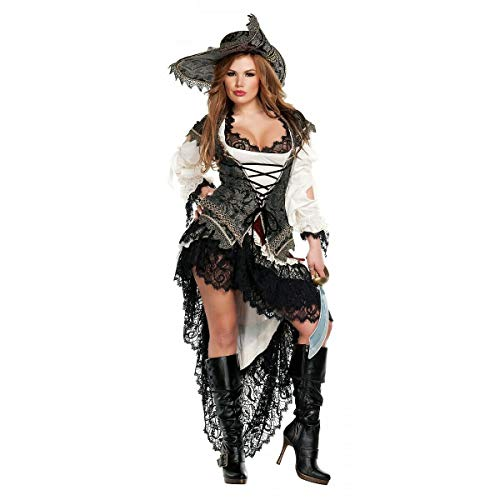 Tftw Sexy Pirate Wench Costume Adult Halloween Fancy Dress ()