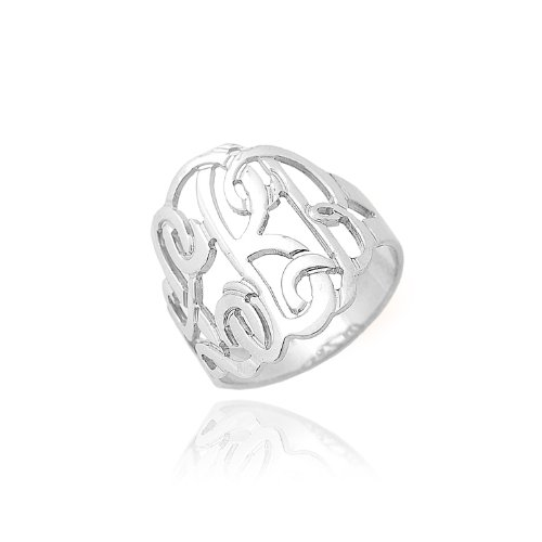 Sterling Silver Personalized Initial Monogram